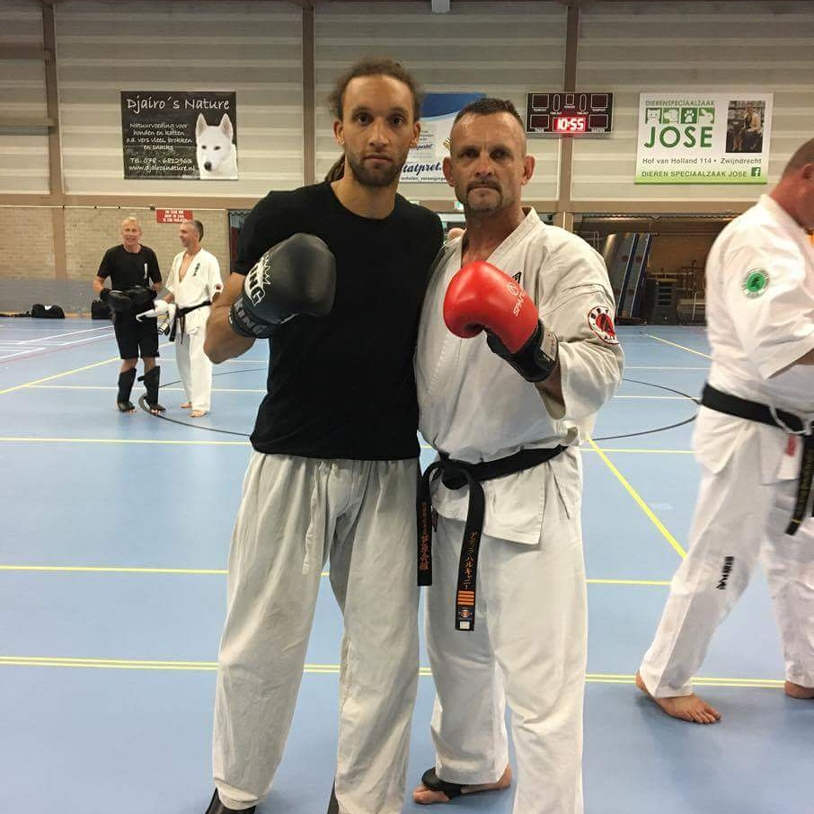 Shihan Dave Jonkers and Niels Wilmink Visiting the Hungarian Ashihara Karate Summer Cump